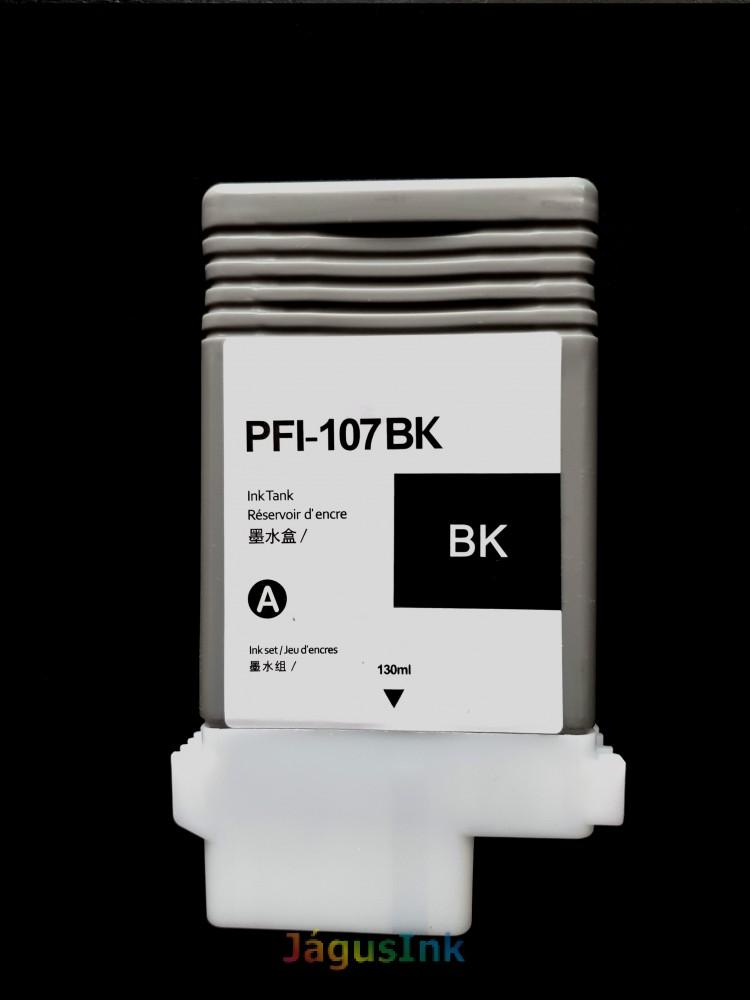 Canon PFI-107BK tintapatron Black/ Fekete utángyártott tinta