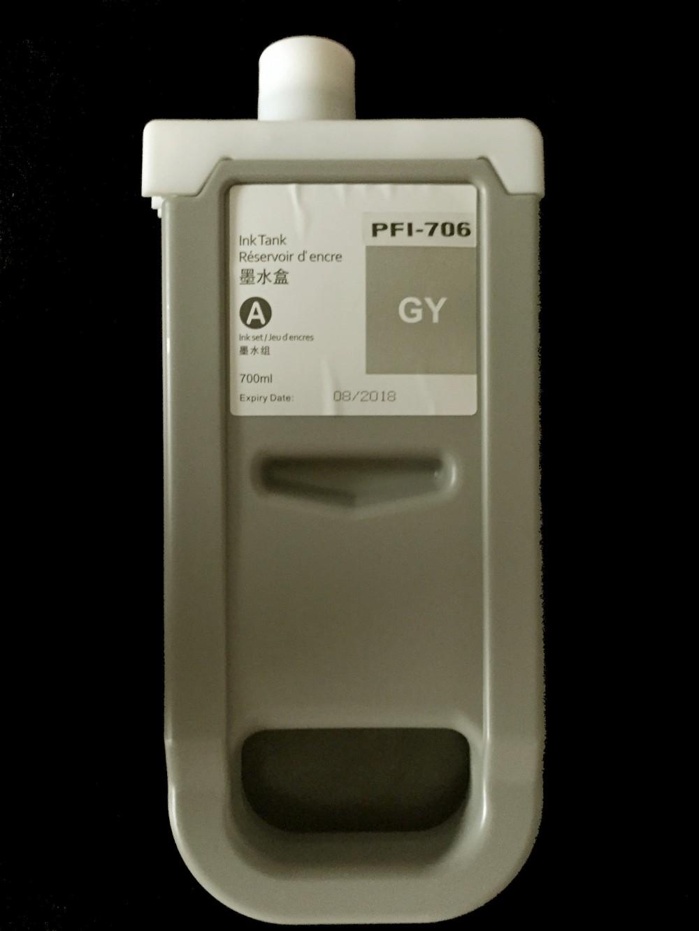 Canon PFI-706GY Grey tinta 700ml. Utángyártott