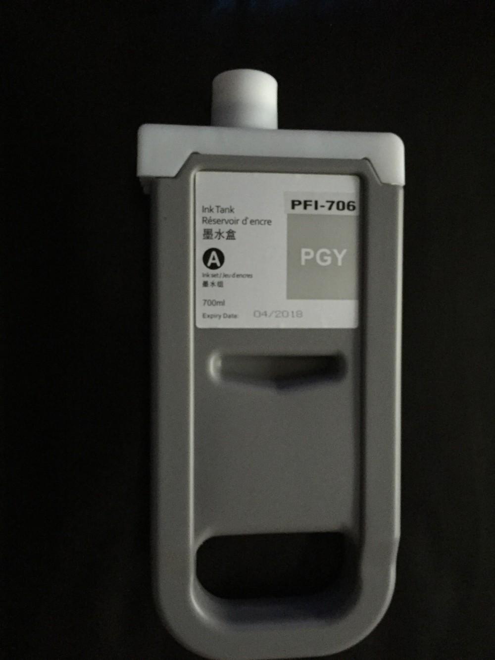 Canon PFI-706PGY Photo Grey tinta 700 ml. Utángyártott.