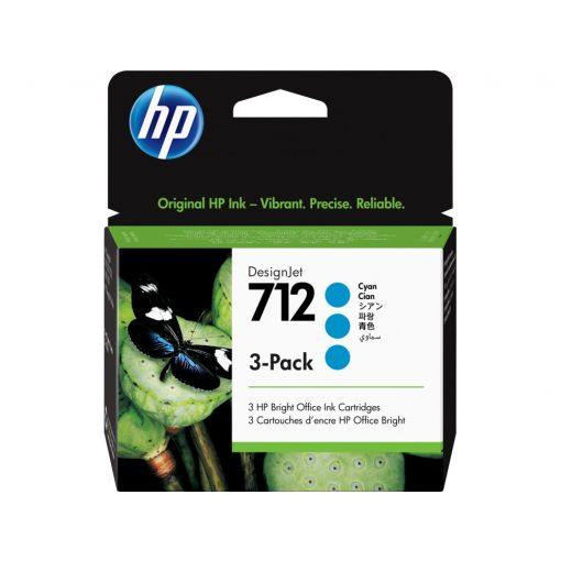 HP 712 Cyan 3x29ml festékpatron pack (Eredeti) 3ED77A