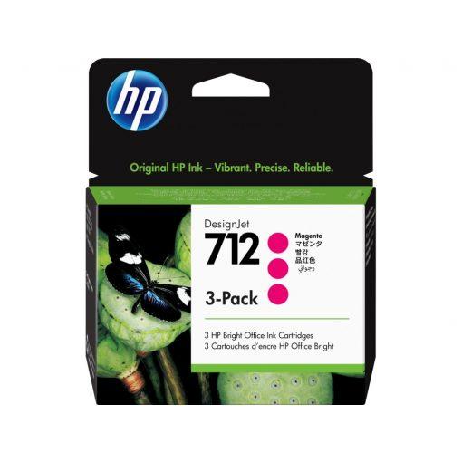 HP 712 Magenta 3x29ml festékpatron (Eredeti) 3ED78A