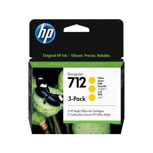 HP 712 Sárga 3x29ml festékpatron (Eredeti) 3ED79A