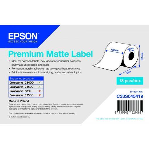 Epson 102mm*35m matt tekercs végtelenített címke