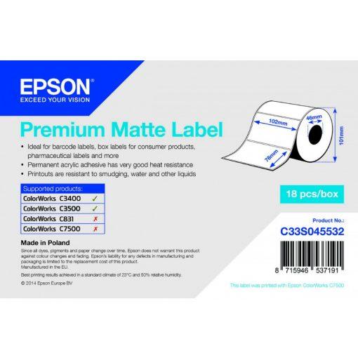 Epson Prémium Matt címke  102mm*76mm