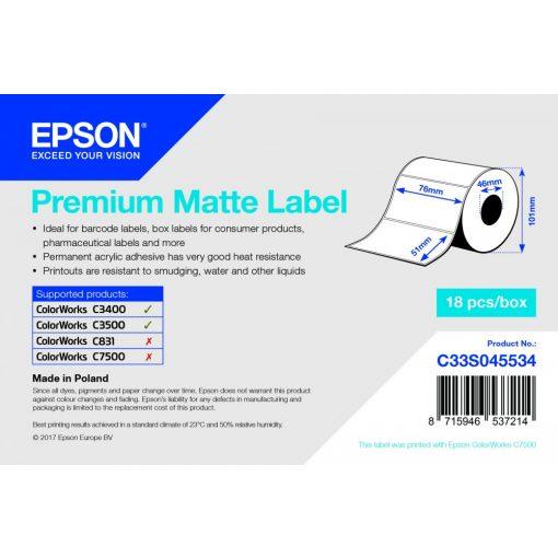 Epson 76mm*51mm, 650 matt inkjet cimke