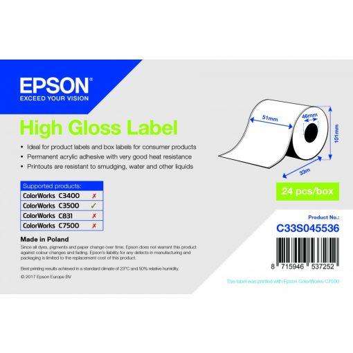Epson 51mm*33m High gloss cimke