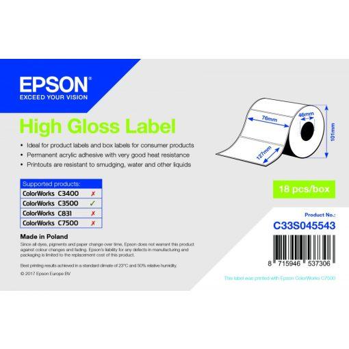 Epson 76mm*127mm, gloss inkjet cimke