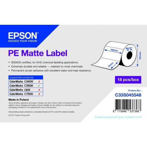 Epson  PE Matt címke 102mm*76mm