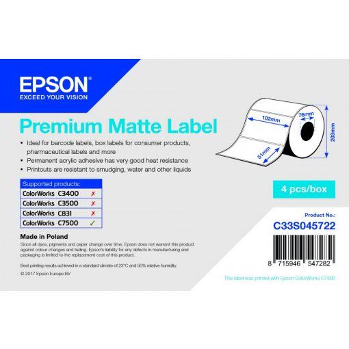 Epson 102mm*51mm, 2310 Prémium Matt inkjet címke