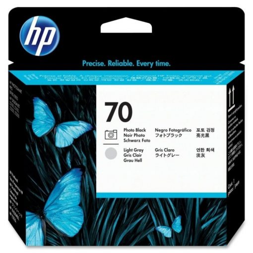HP C9407A P.head PhBk/L.Gr No.70 (Eredeti)