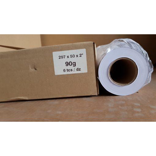 Mérnöki plotter papír 297mm x50m  tekercs 90g