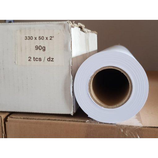 Mérnöki plotter papír 330mm x 50m  tekercs 90g