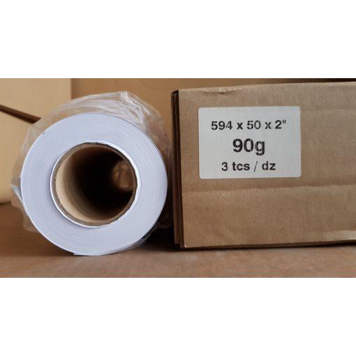 Mérnöki plotter papír 594mm x 50m tekercs 90g