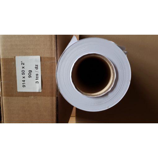 Mérnöki plotter papír 914mm x 50m tekercs 90g
