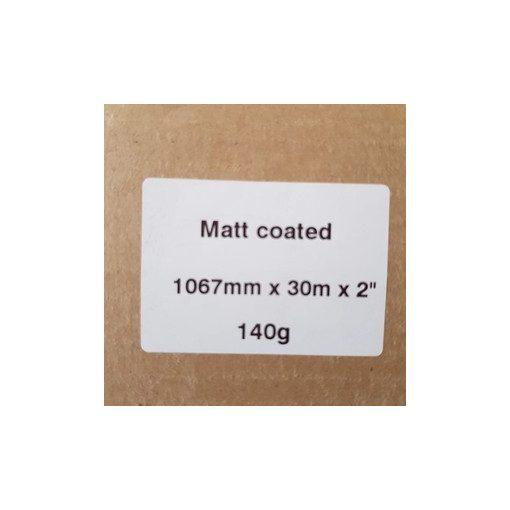 Matt Coated 140g  1067mm x 30m
