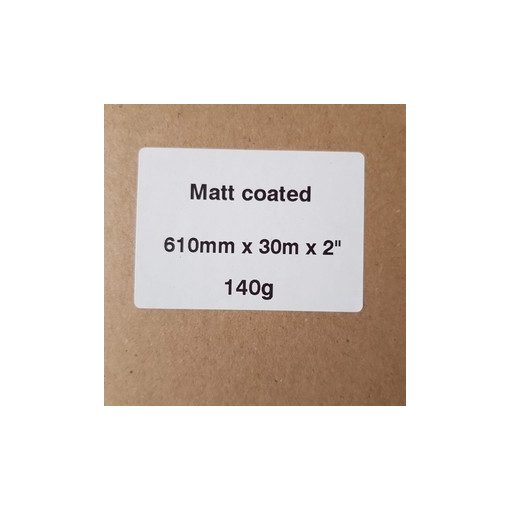 Matt Coated 140g  610mm x 50m