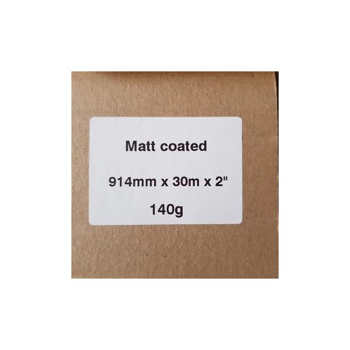 Matt Coated 140g  914mm x 30m