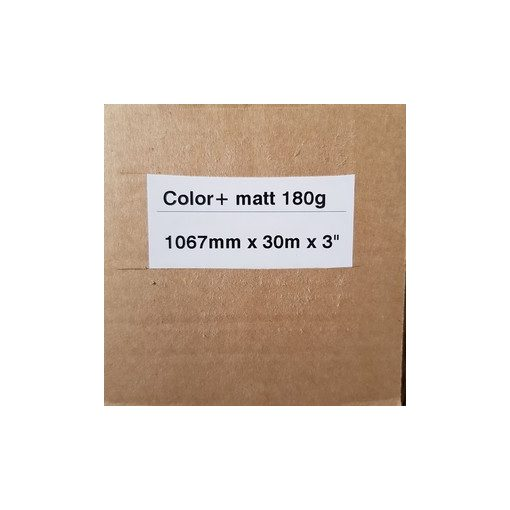 Matt Coated 180g  1067mm x 30m