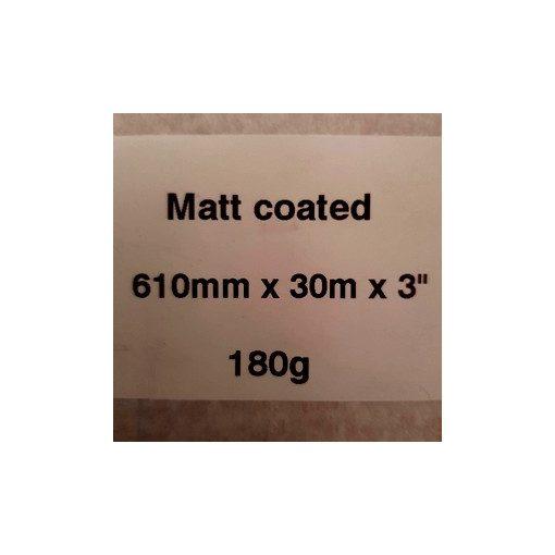 Matt Coated 180g  610mm x 50m