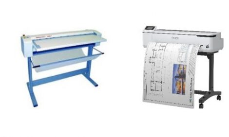 Epson T5100 mérnöki nyomtató és Neofold 920EB tervrajz hajtogatógép