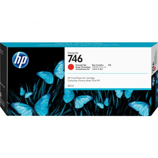 HP 747 Chromatic Red tintapatron