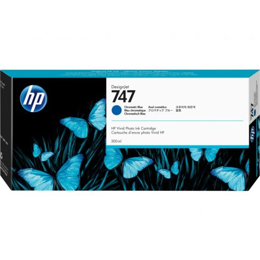 HP 747 Chromatic Blue tintapatron